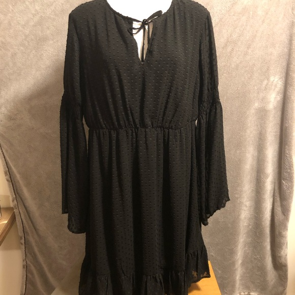 torrid Dresses & Skirts - Torrid Black Clipper Chiffon Dress 2X 18/20